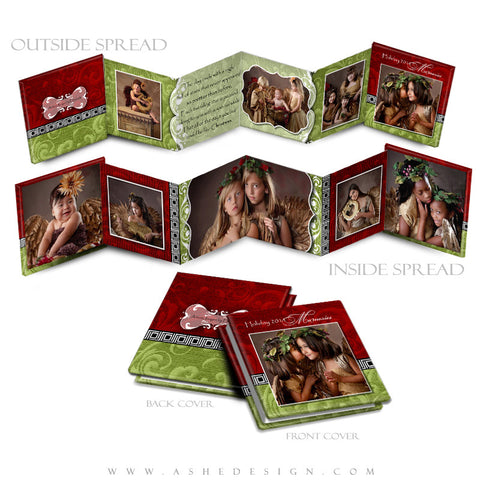 Photo Book Design Template (3x3 Accordion Mini) - Joy