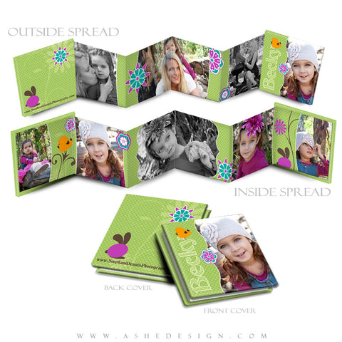 Photo Book Design Template (3x3 Accordion Mini) - Peeps