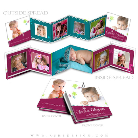 Photo Book Design Template (3x3 Accordion Mini) - Santa Baby