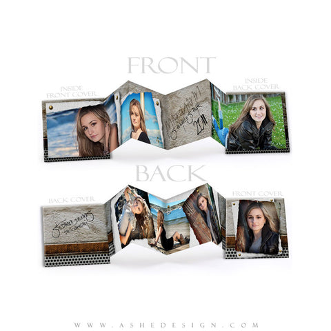 Senior Boy Photo Book (3x3 Accordion Mini) - Scrap Metal