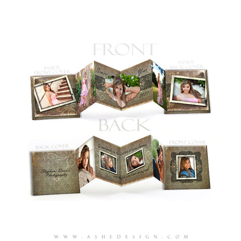 Photo Book Design Template (3x3 Accordion Mini) - Shabby Chic