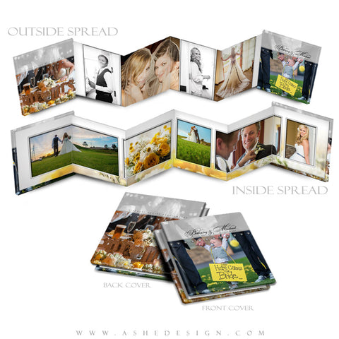 Photo Book Design Template (3x3 Accordion Mini) - Simply Stated