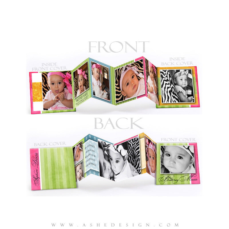 Photo Book Design Template (3x3 Accordion Mini) - Spring Fling
