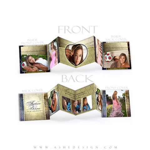 Photo Book Design Template (3x3 Accordion Mini) - Spring Rain