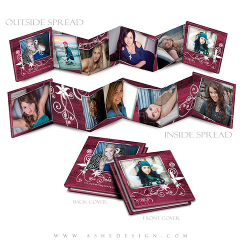 Photo Book Design Template (3x3 Accordion Mini) - Steel Magnolia