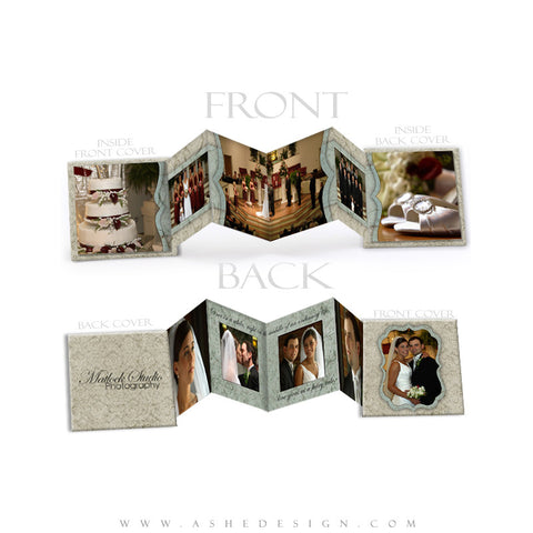 Photo Book Design Template (3x3 Accordion Mini) - Sweet Romance