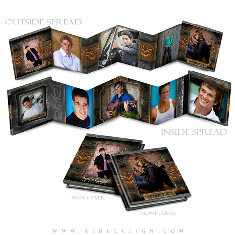Photo Book Design Template (3x3 Accordion Mini) - Tattooed