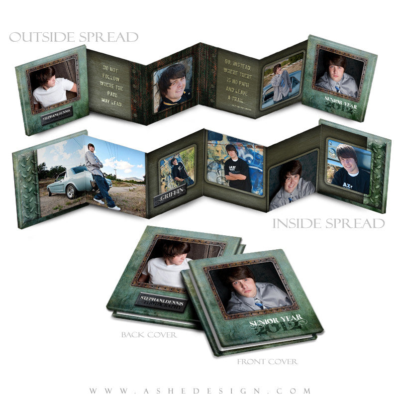 Photo Book Design Template (3x3 Accordion Mini) - Urban Blade