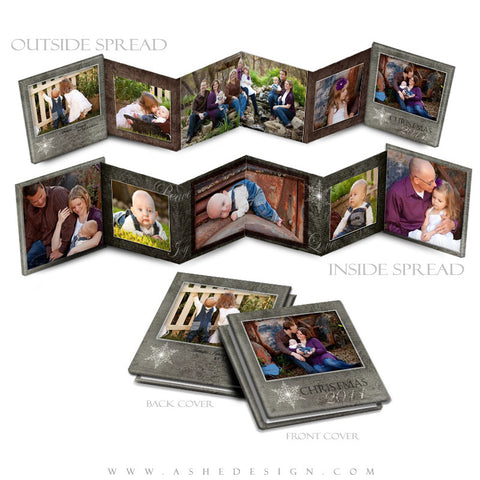 Photo Book Design Template (3x3 Accordion Mini) - Yule Tide