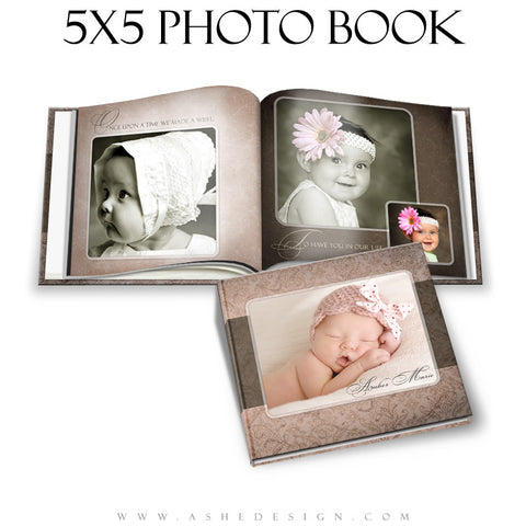 Photo Book Templates 5x5 | Amber Marie open book
