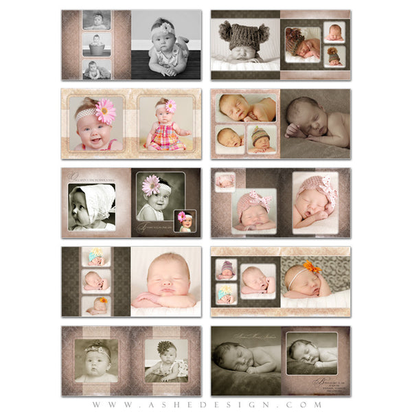 Photo Book Templates 5x5 | Amber Marie pages