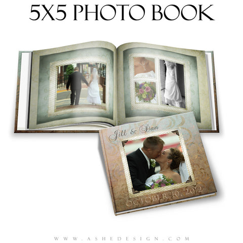 Photo Book Design Template (5x5) - Something Old