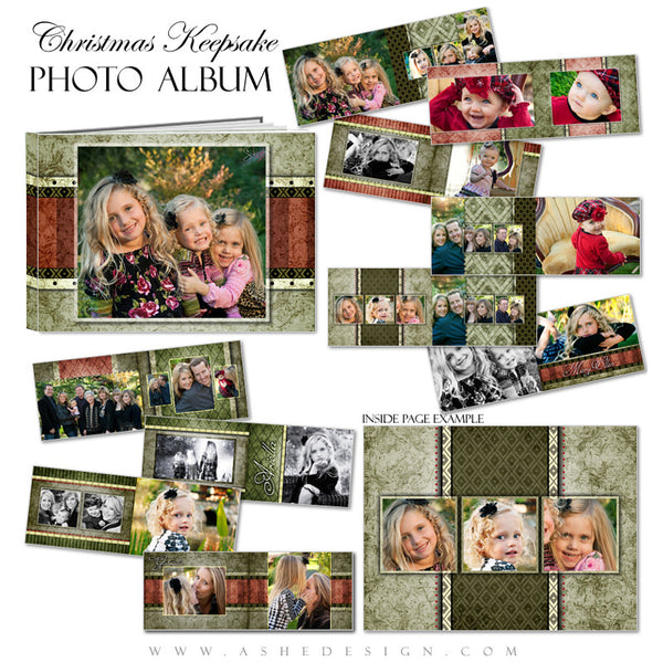 Photo Book Templates 5x7 | Christmas Keepsake pages