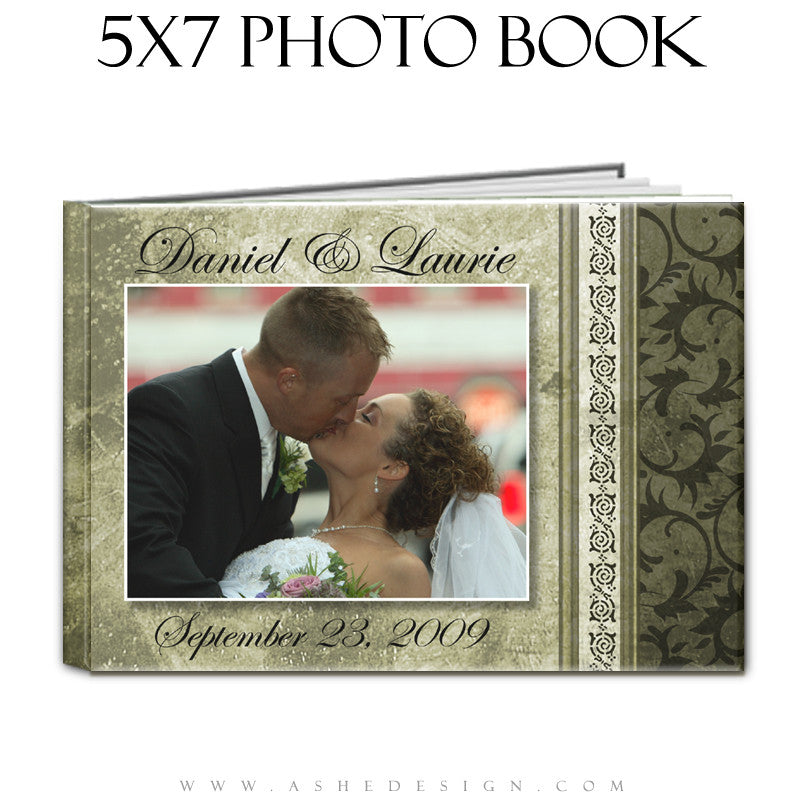 Photo Book Templates 5x7 | Elegant Brushed Grunge cover