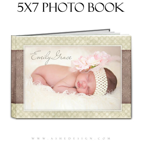 Baby Girl Photo Book Template (5x7) - Emily Grace