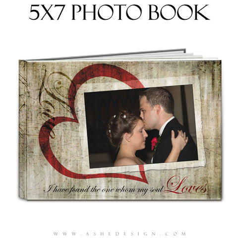 Photo Book Design Template (5x7) - Love Letters