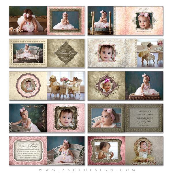 Baby Girl Photo Book Template (5x7) - Madison Grace