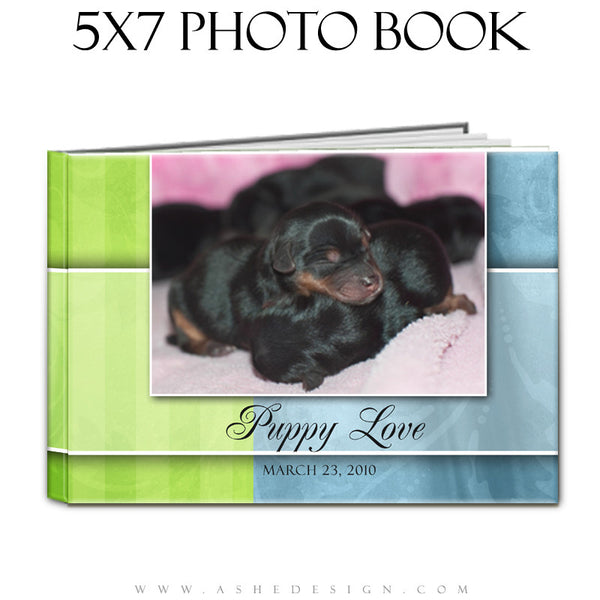 Photo Book Template (5x7) - Spring Fling
