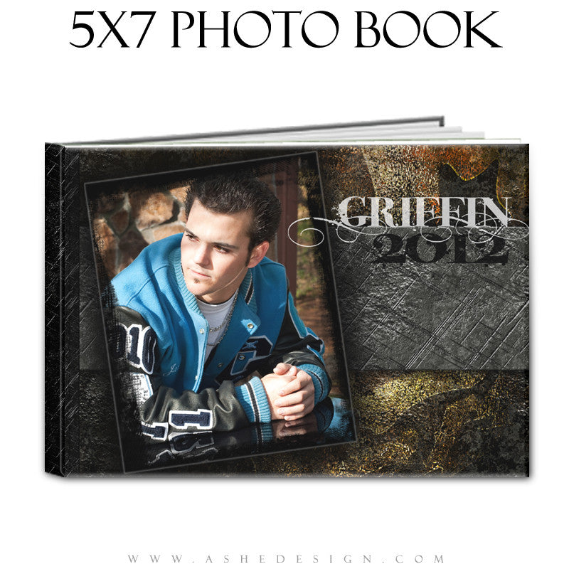 Senior Boy Photo Book Template (5x7) - Tattooed