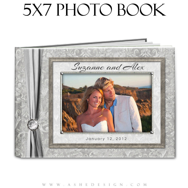Ashe Design | Wedding Guest Book 5x7 | White Wedding cover