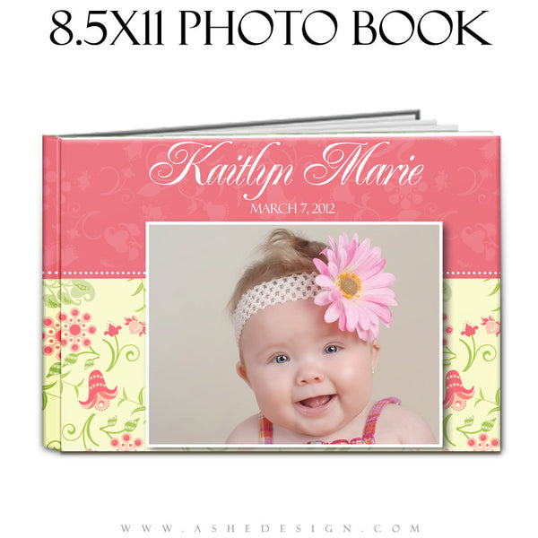 Photo Book Design Template (8.5x11) - Baby Girl