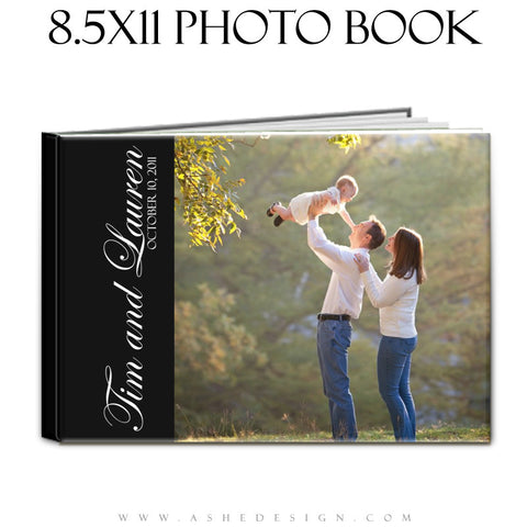 Photo Book Design Template (8.5x11) - Classic Black & White