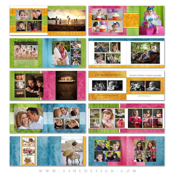 Photo Book Template (8.5x11) - Spring Fling