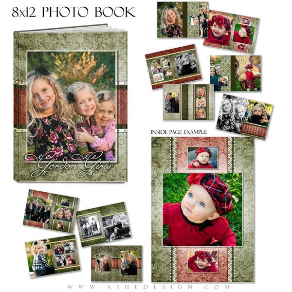 Photo Book Templates 8x12 | Christmas Keepsake pages