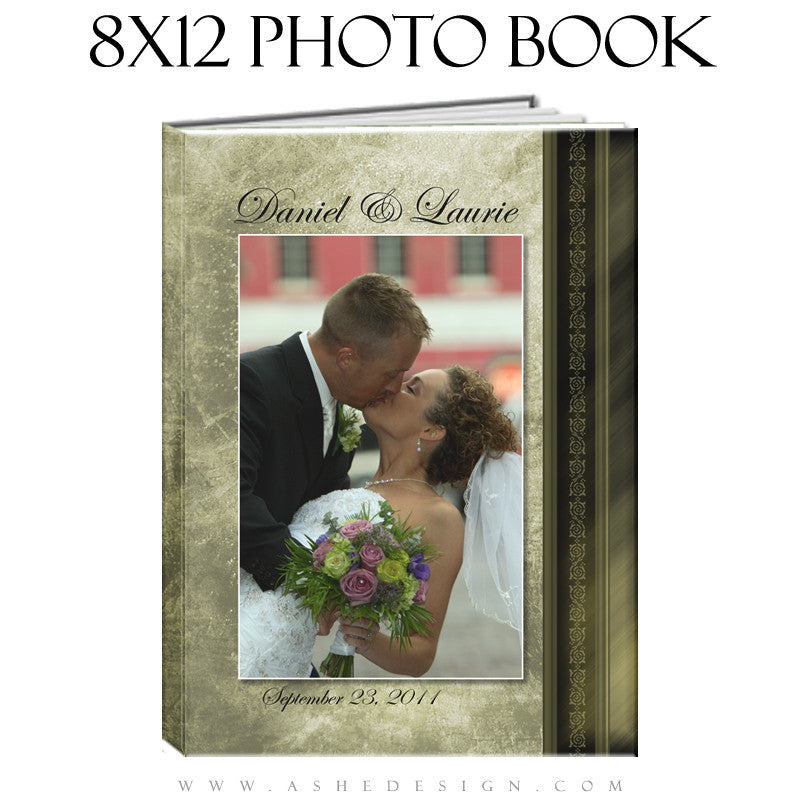 Photo Book Templates 8x12 | Elegant Brushed Grunge cover
