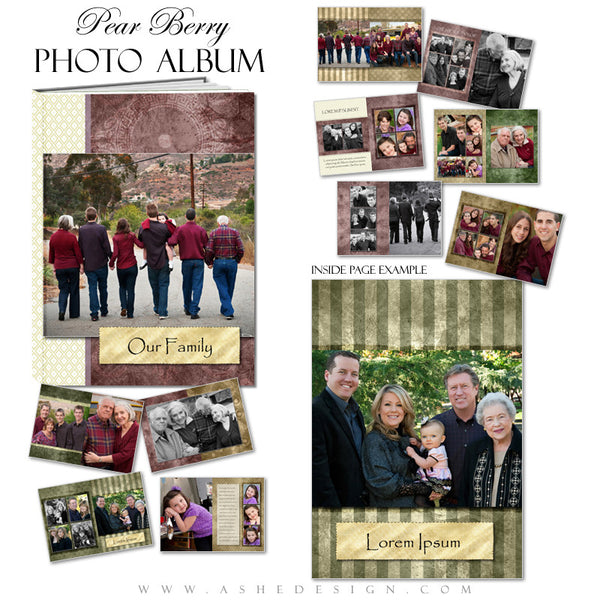 Photo Book Design Template (8x12) - Pear Berry
