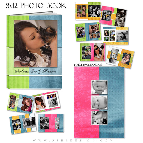 Photo Book Template (8x12) - Spring Fling