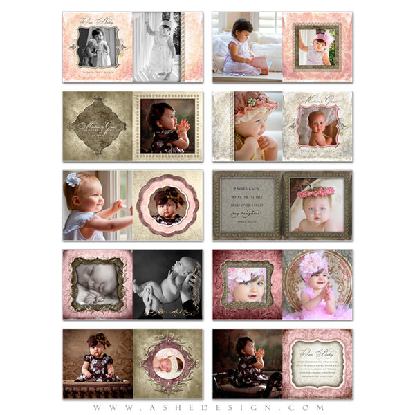 Baby Girl Photo Book Template (8x8) - Madison Grace