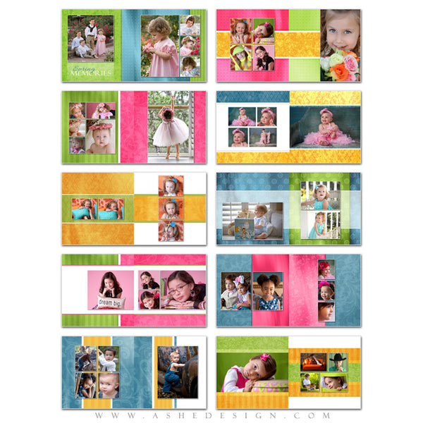 Ashe Design | Spring Fling 8x8 Photo Book pages