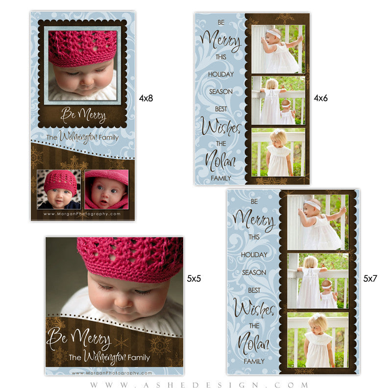 Christmas Photo Card Set - Be Merry