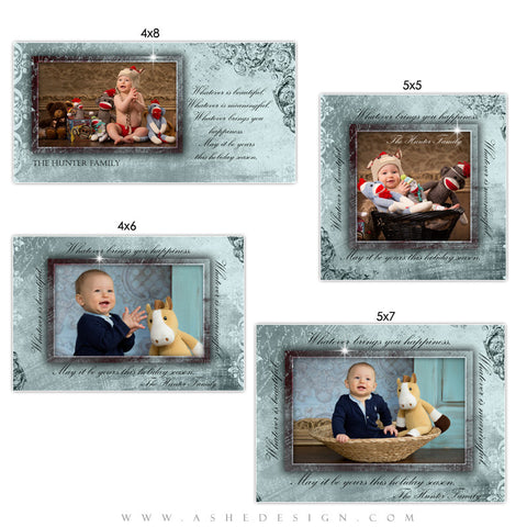 Christmas Photo Card Set - Blue Christmas
