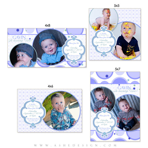Photo Card Design Set - Bubble Gum Blue