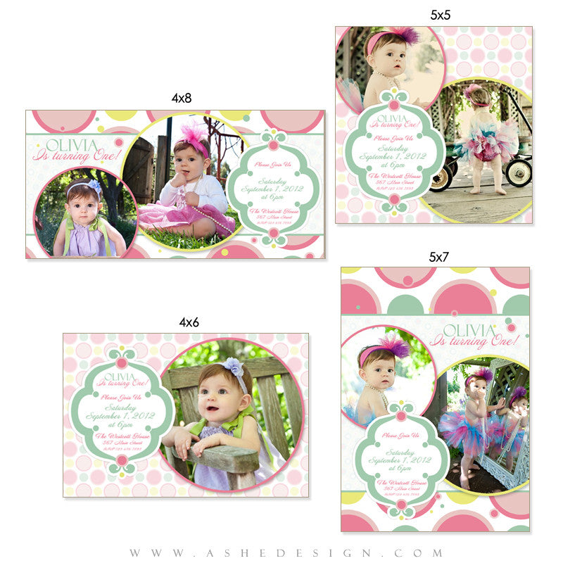 Photo Card Design Set - Bubble Gum Pink