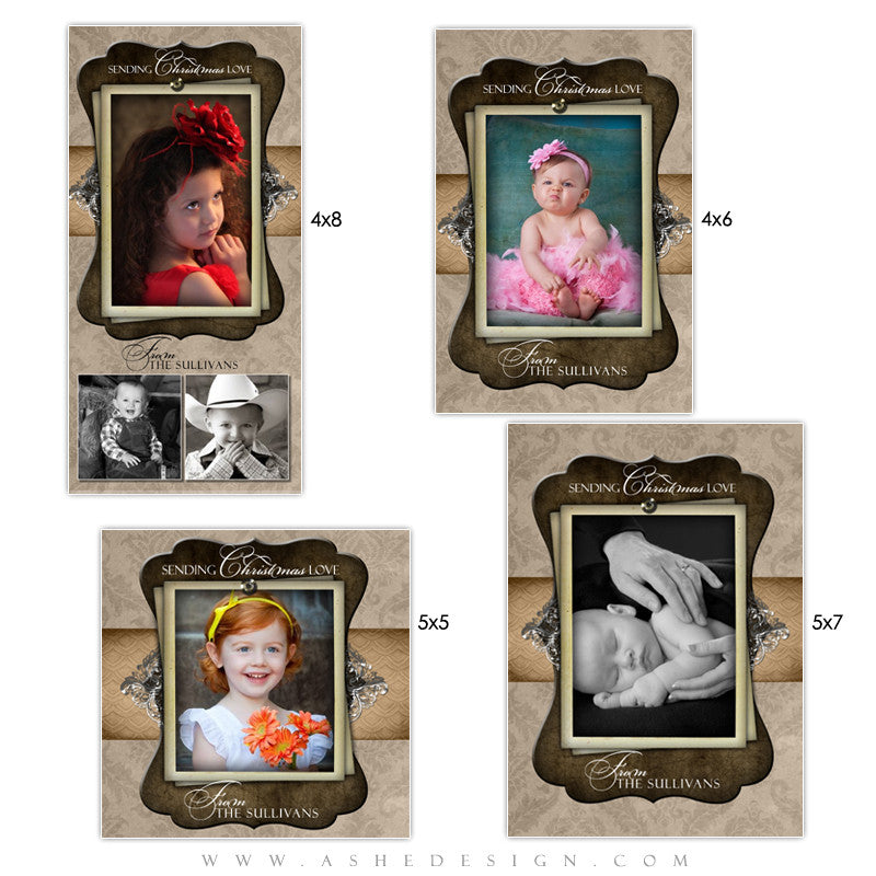 Christmas Photo Card Set - Chocolate Silk