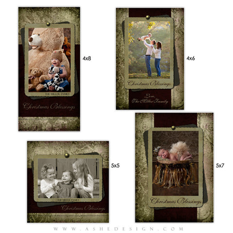 Christmas Photo Card Set - Christmas Blessings