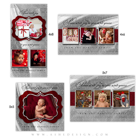 Christmas Photo Card Set - Christmas Bling