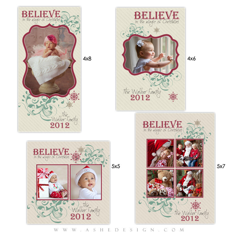 Photo Card Design Set - Christmas Magic