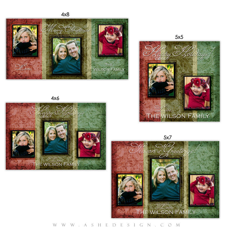 Christmas Photo Card Set - Christmas Memories