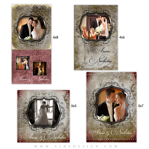 Wedding Photo Card Set - Engraved Elegance