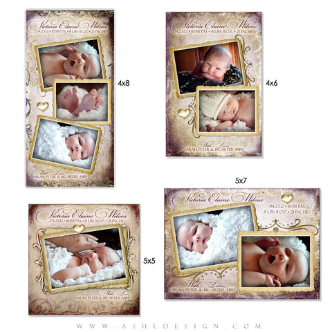 Photo Card Design Set - Fleur De Lis