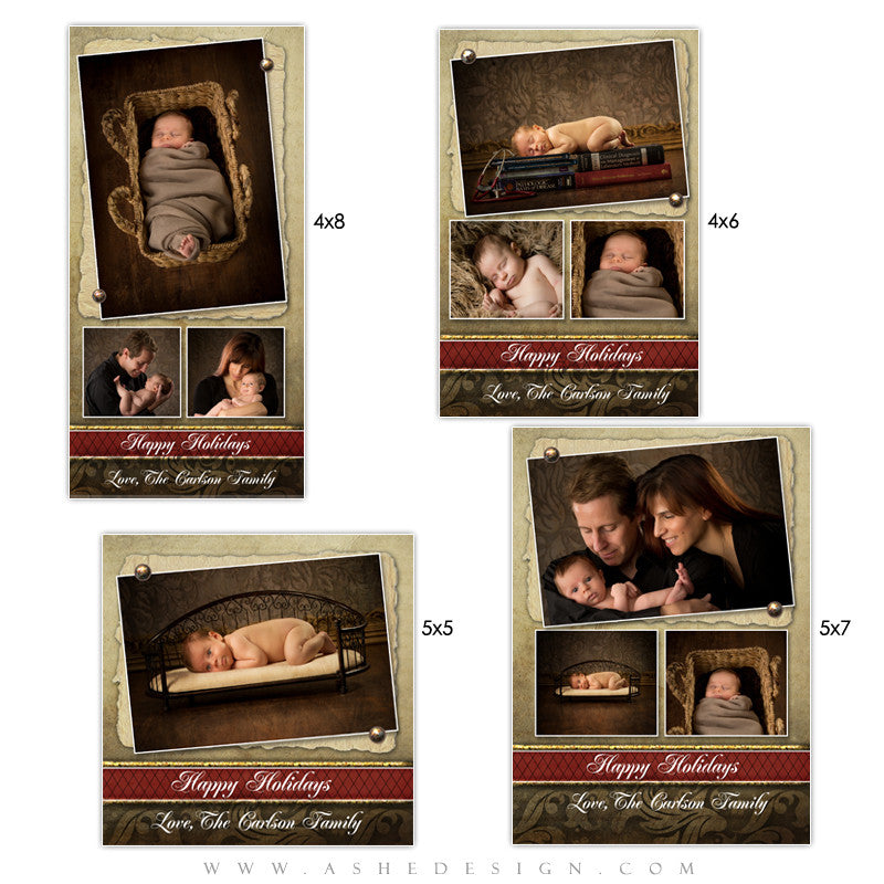 Christmas Photo Card Set - Ginger Bread