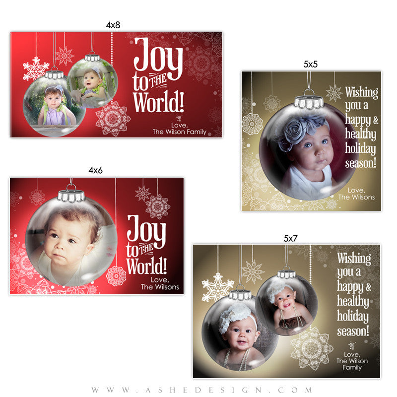 Christmas Photo Card Set - Ornamental