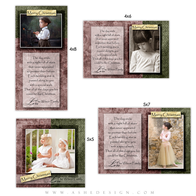 Christmas Photo Card Set - Pear Berry