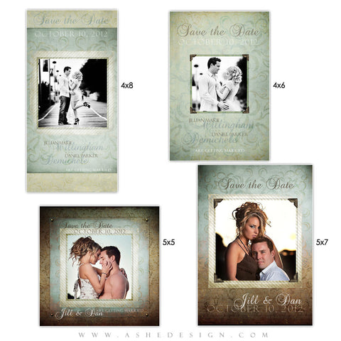 Photo Card Save The Date Set - Something Old