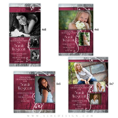 Photo Card Design Set - Steel Magnolia