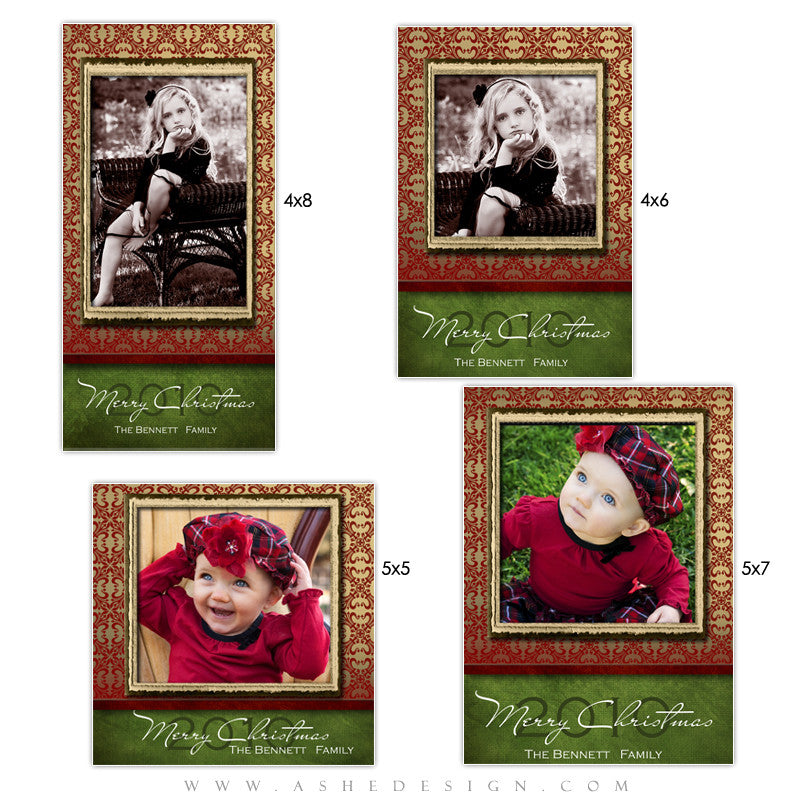 Christmas Photo Card Set - Velvet